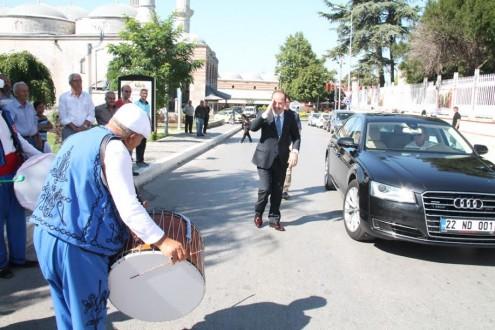 KIRKPINAR DAVUL ZURNA EKİBİ, BAŞKAN GÜRKAN'I ZİYARET ETTİ
